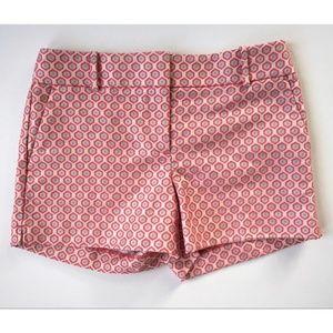 Ann Taylor LOFT Pink Blue Floral Short Shorts Sz 2